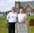 Sandi Davis and Allen Mochnick whose efforts led to putting the stone in this cemetery
